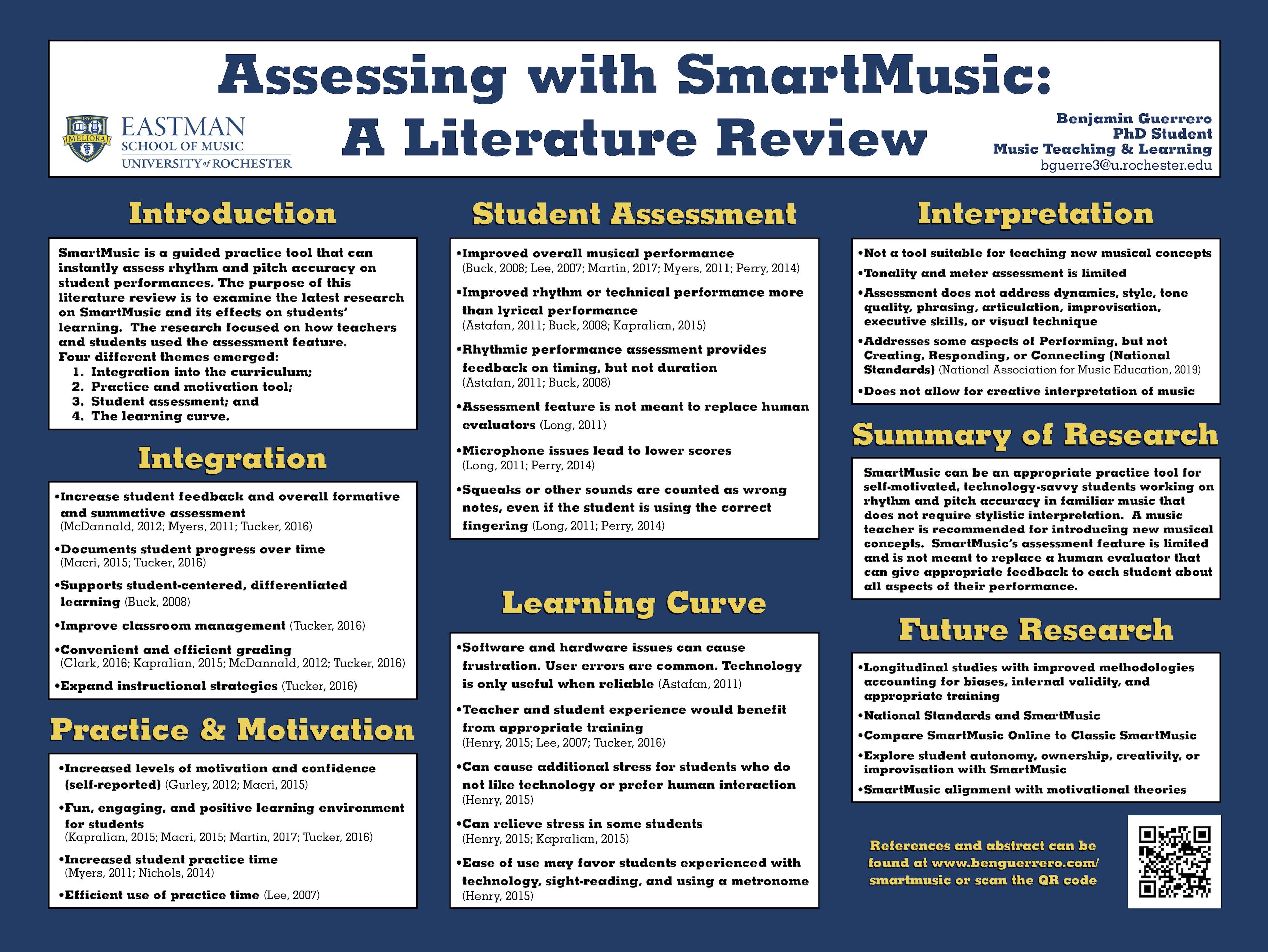 Ben Guerrero - Smart Music Poster
